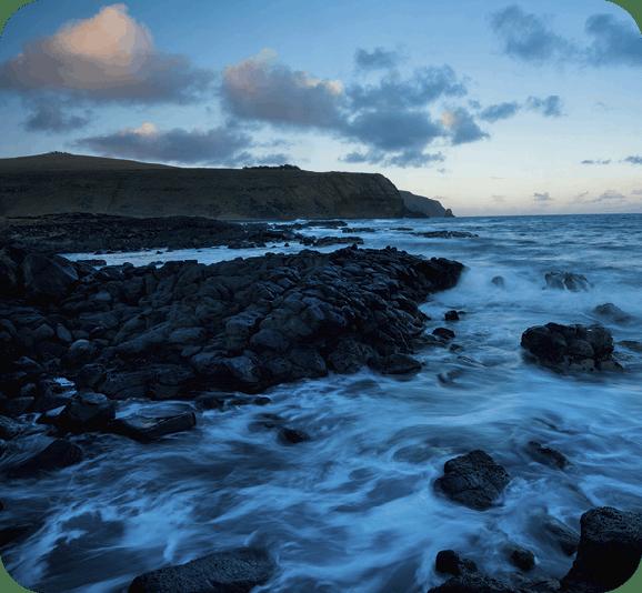 Océano y roqueríos