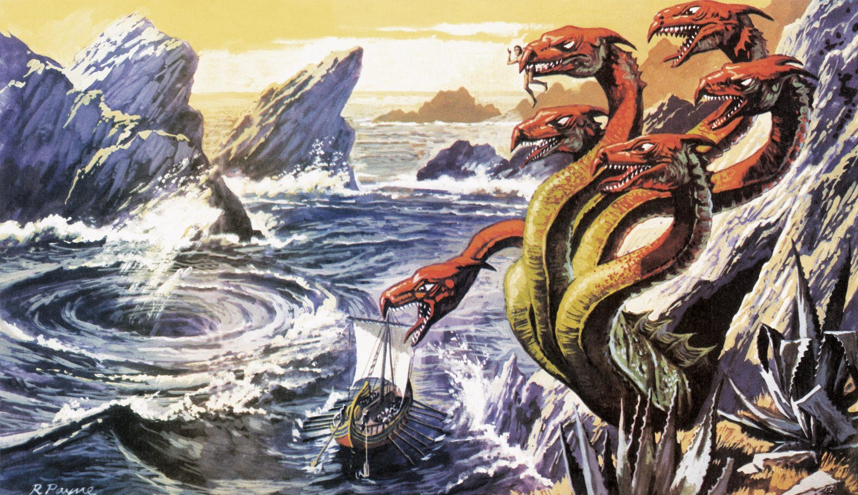 Scylla attaquant le vaisseau d'Ulysse