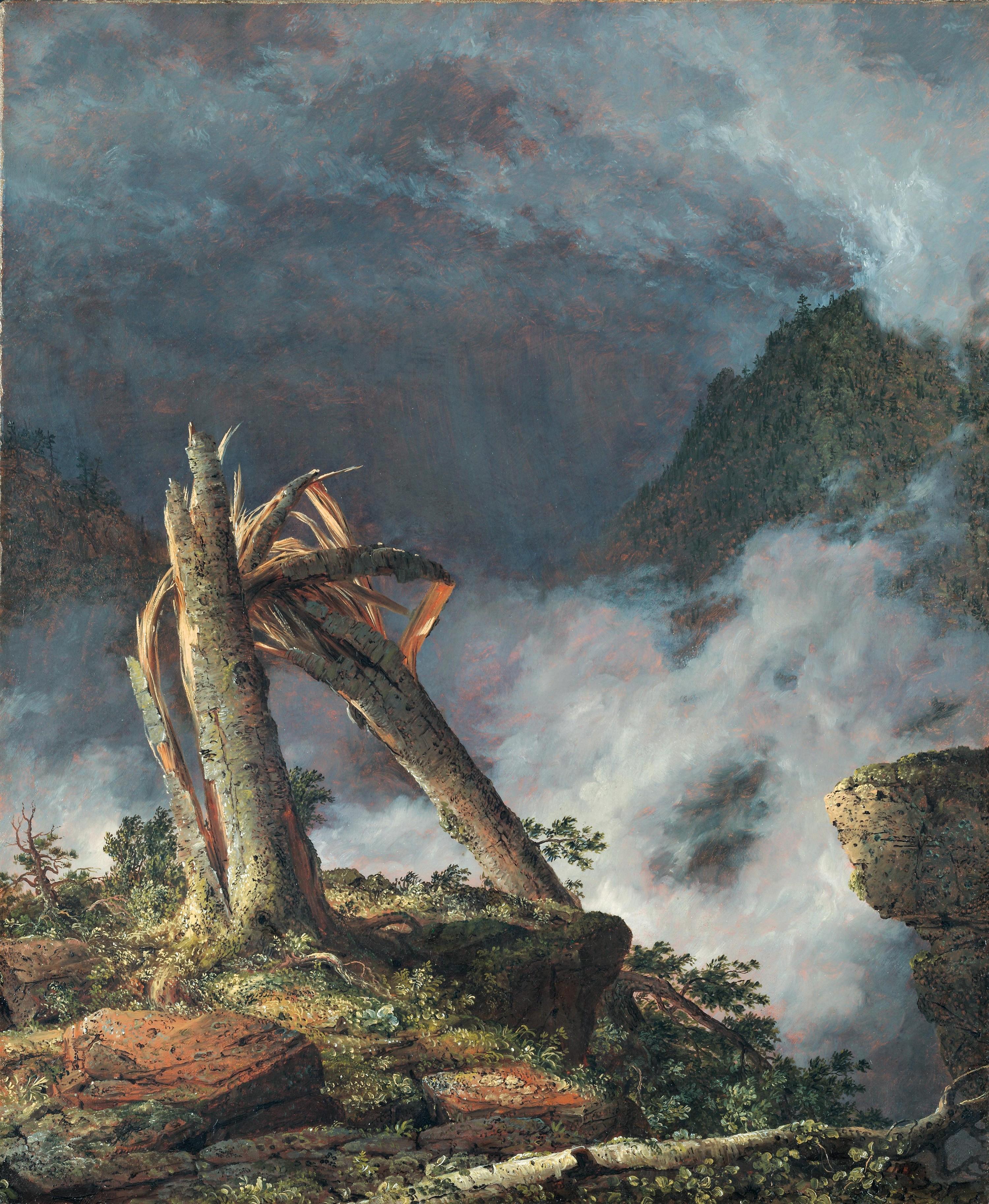 Tempête dans les montagnes