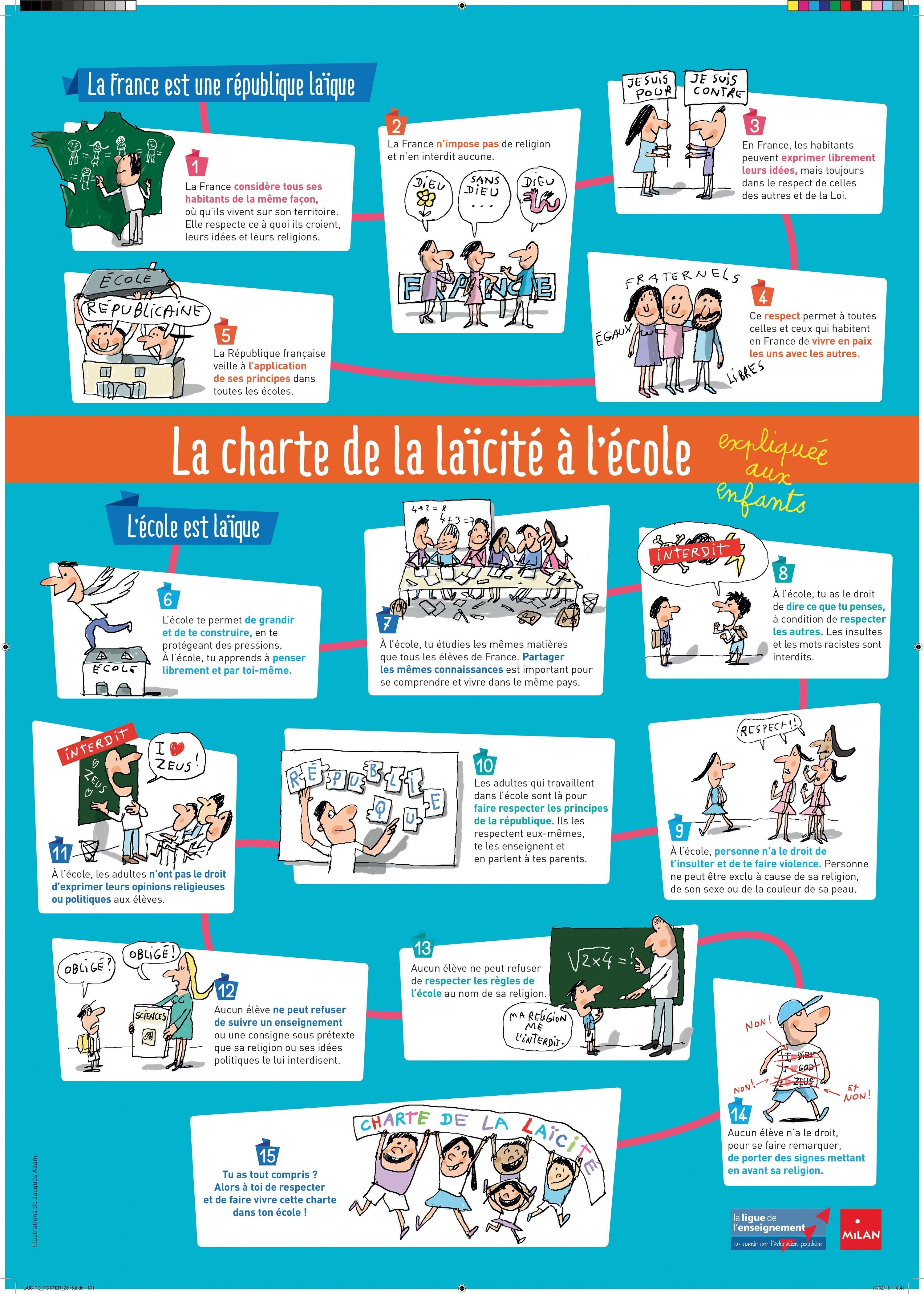 La charte de la laïcité expliquée aux enfants