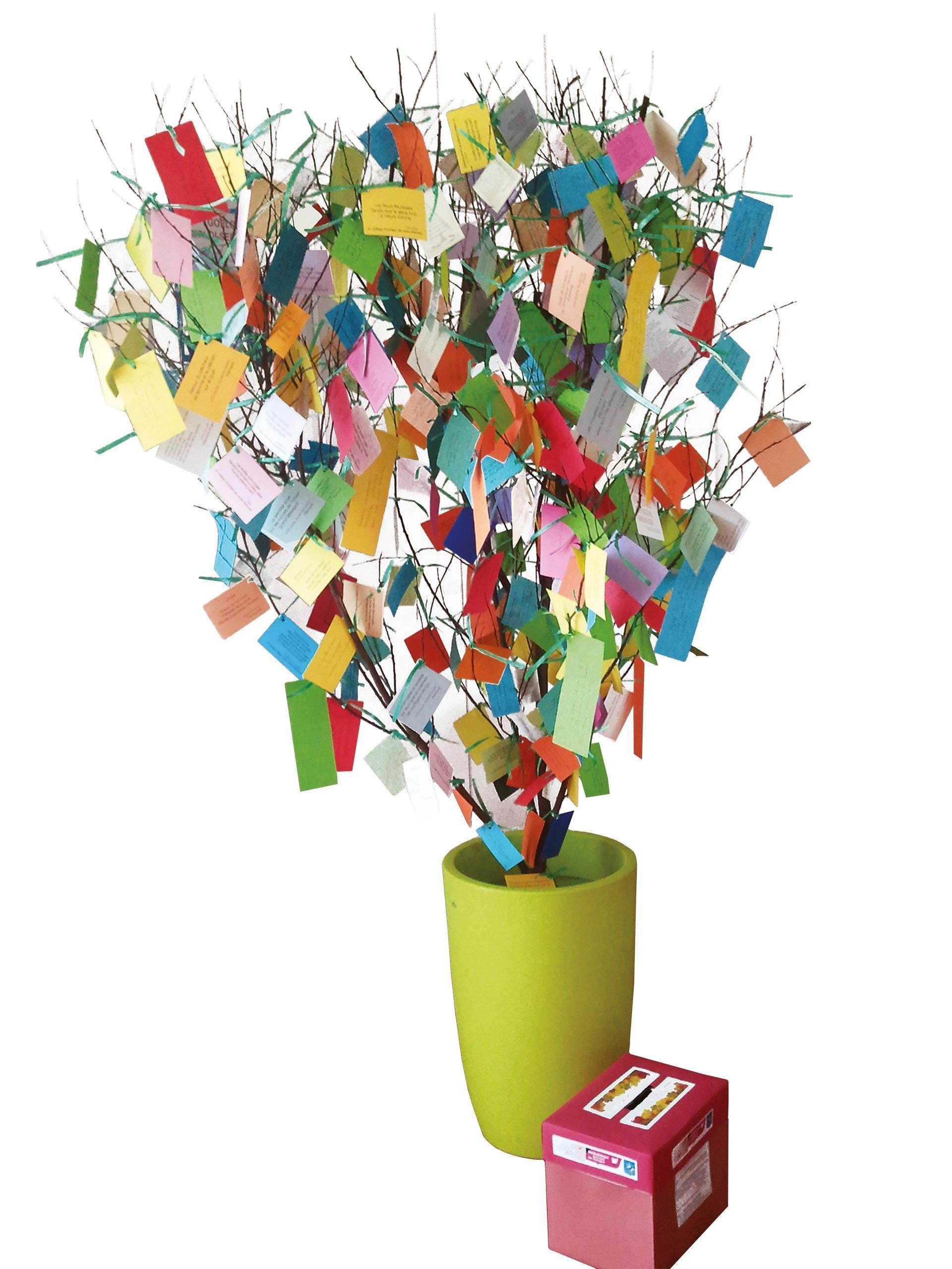 Un arbre à poèmes
