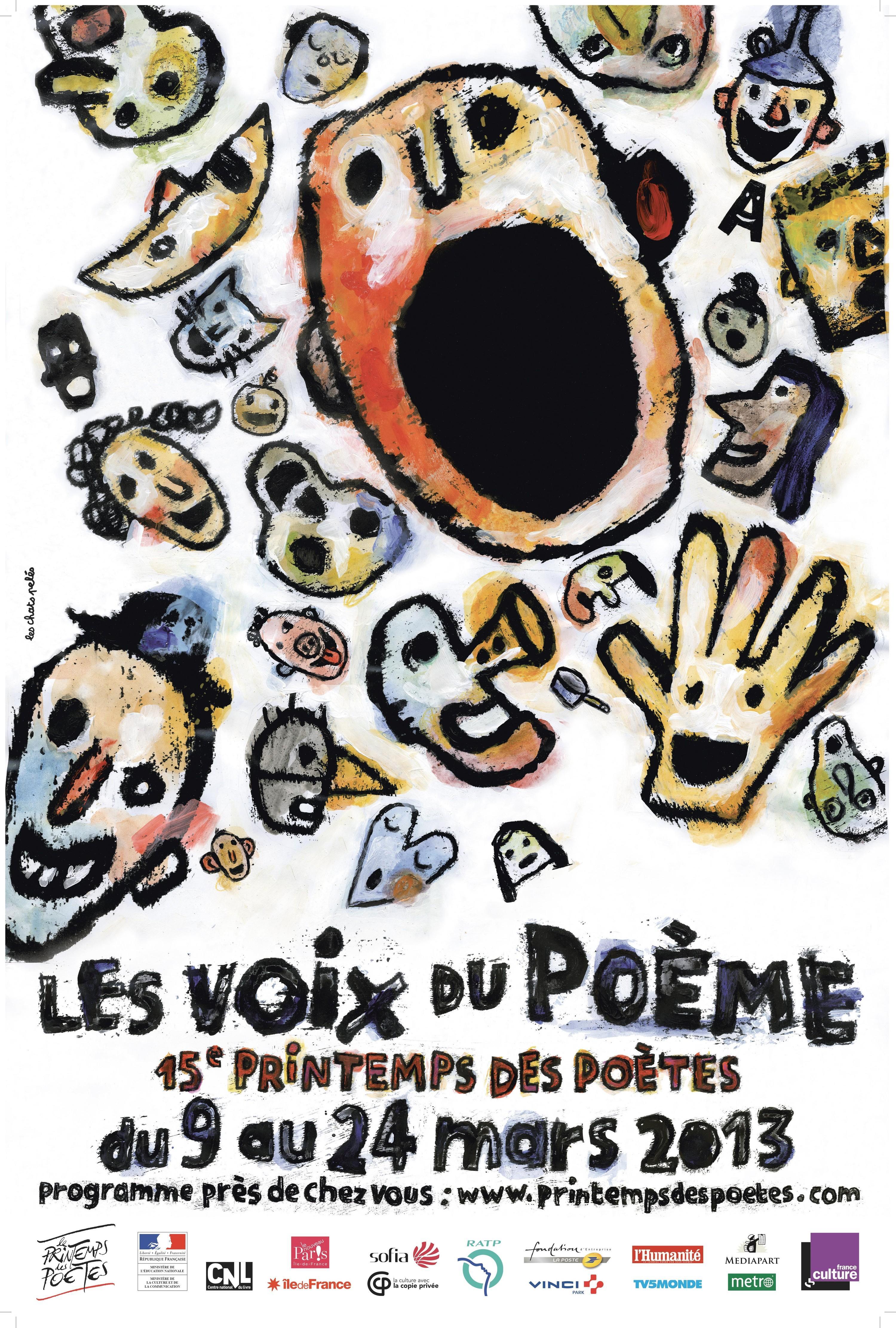 Affiche du Printemps des Poètes 2013.