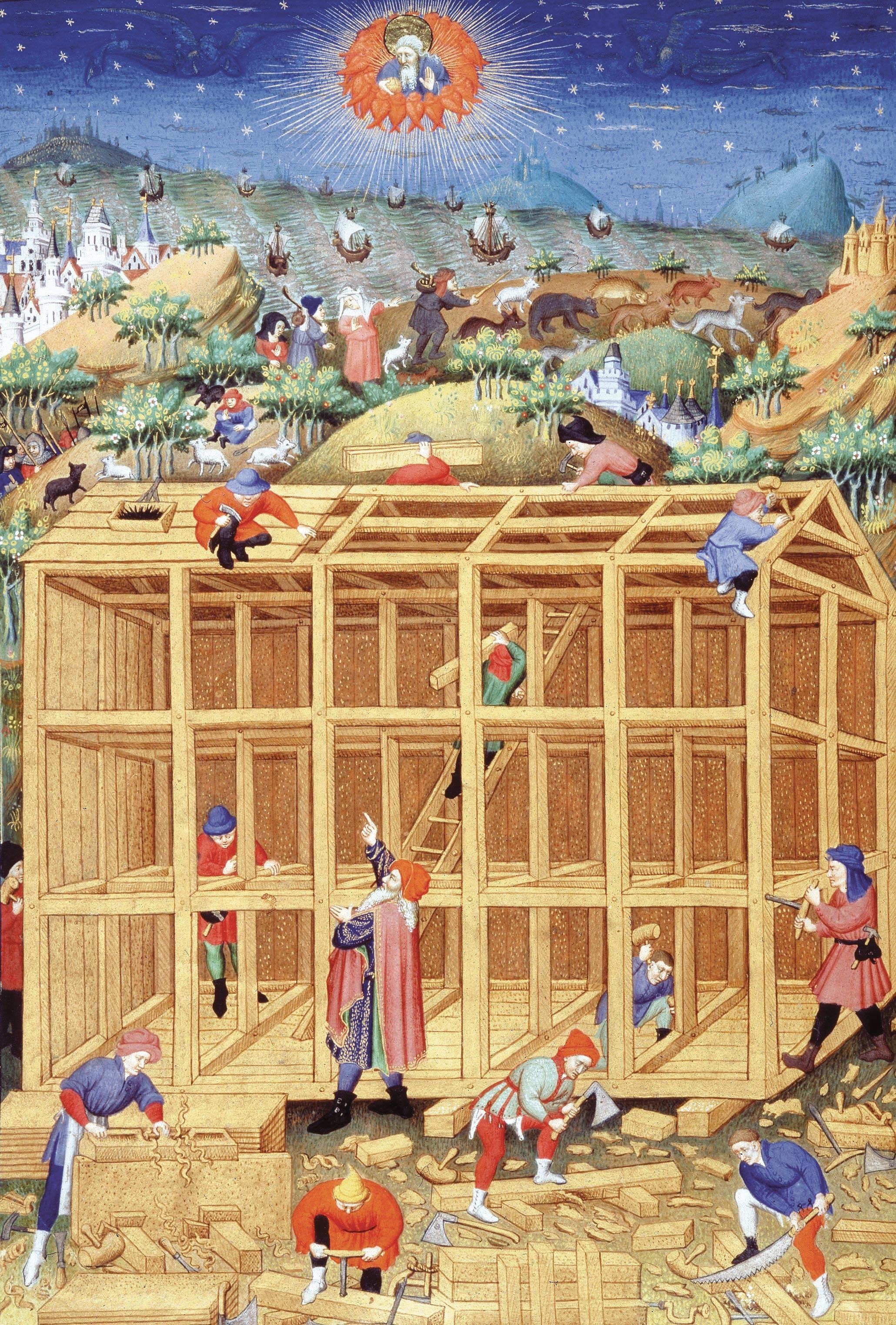 La construction de l'Arche de Noé