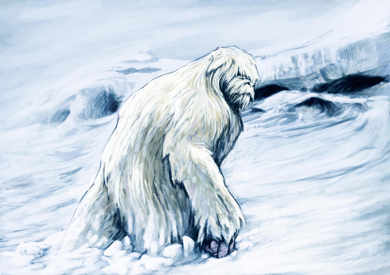 Le yéti, abominable homme des neiges.
