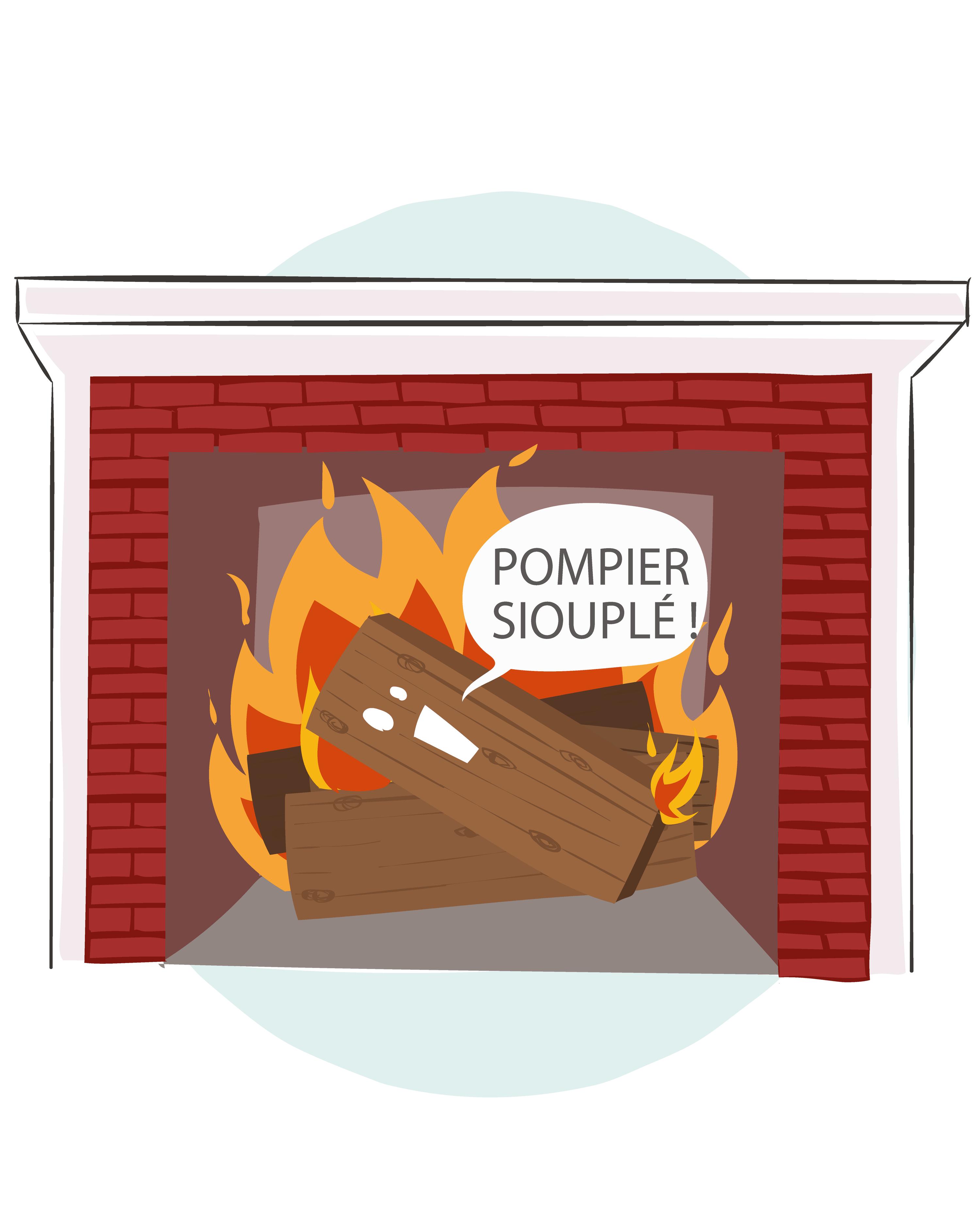 Ex. 1 Une cheminée parlant