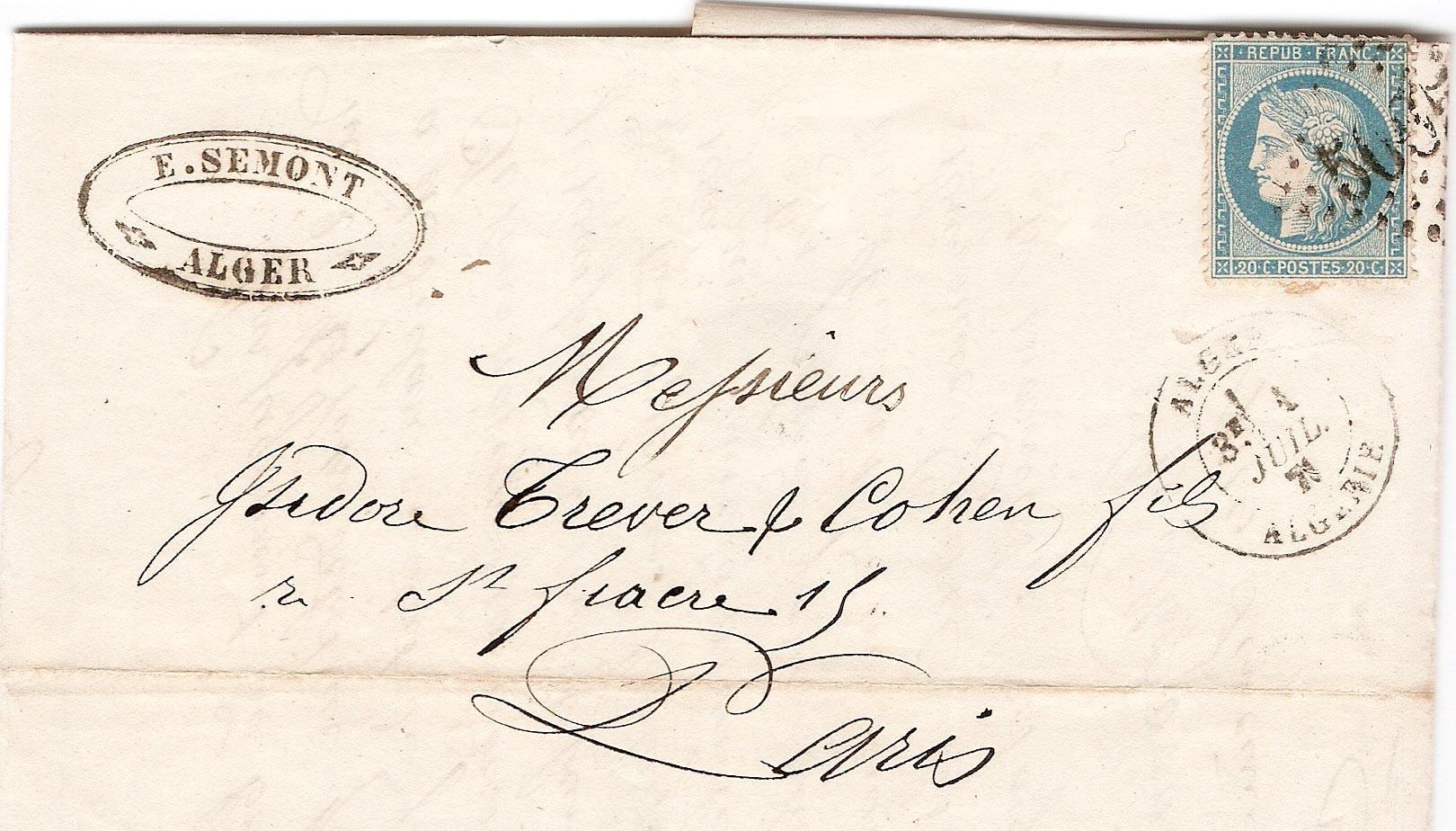 Ex. 15 Une lettre