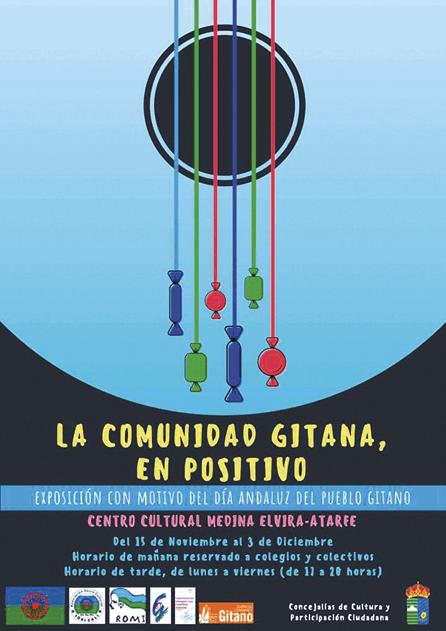 Cartel de la exposición «La comunidad gitana, en positivo», Ayuntamiento de Atarfe, 2018