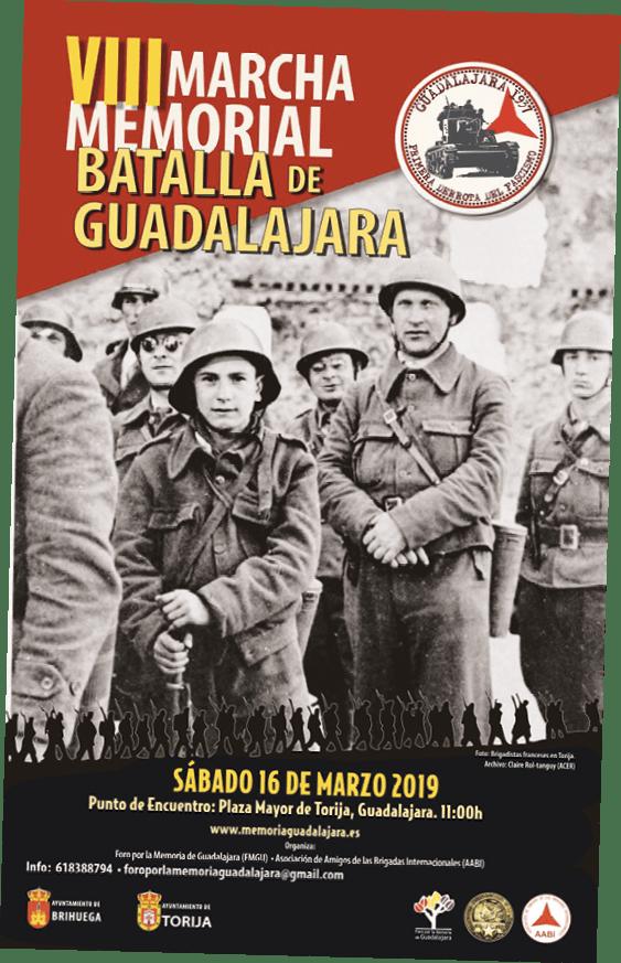 Cartel con motivo de la conmemoración de la Batalla de Guadalajara, 2019