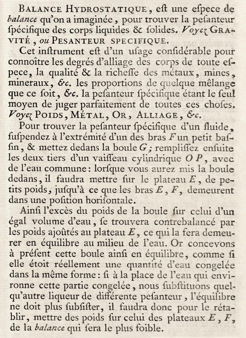 Extrait de l'Encyclopédie