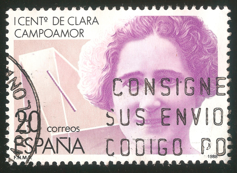 Sello para el centenario del nacimiento de Clara Campoamor, 2018