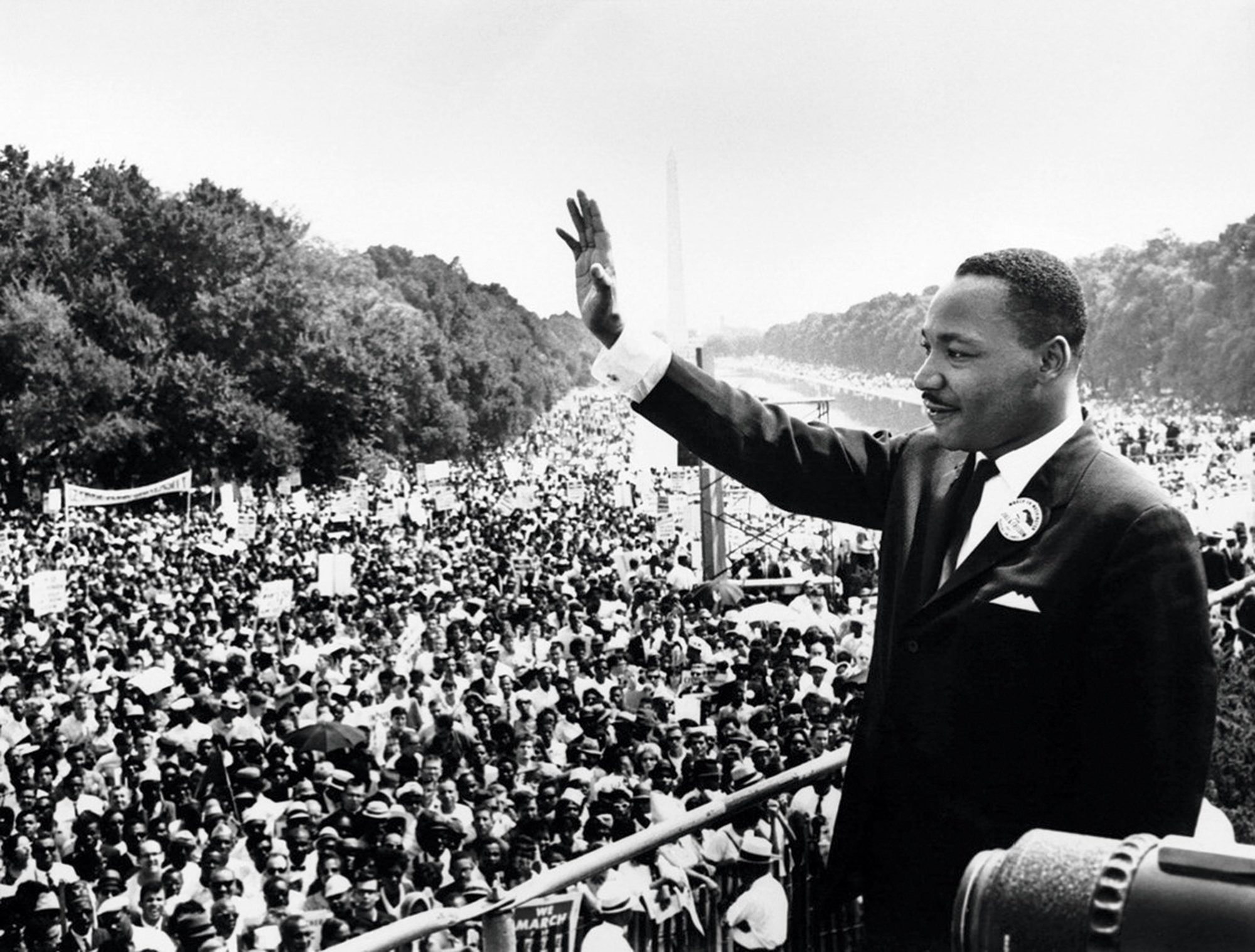 Martin Luther King during his speech