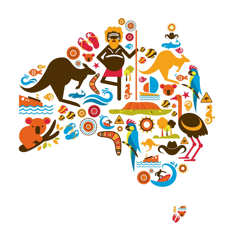 Australian symbols map