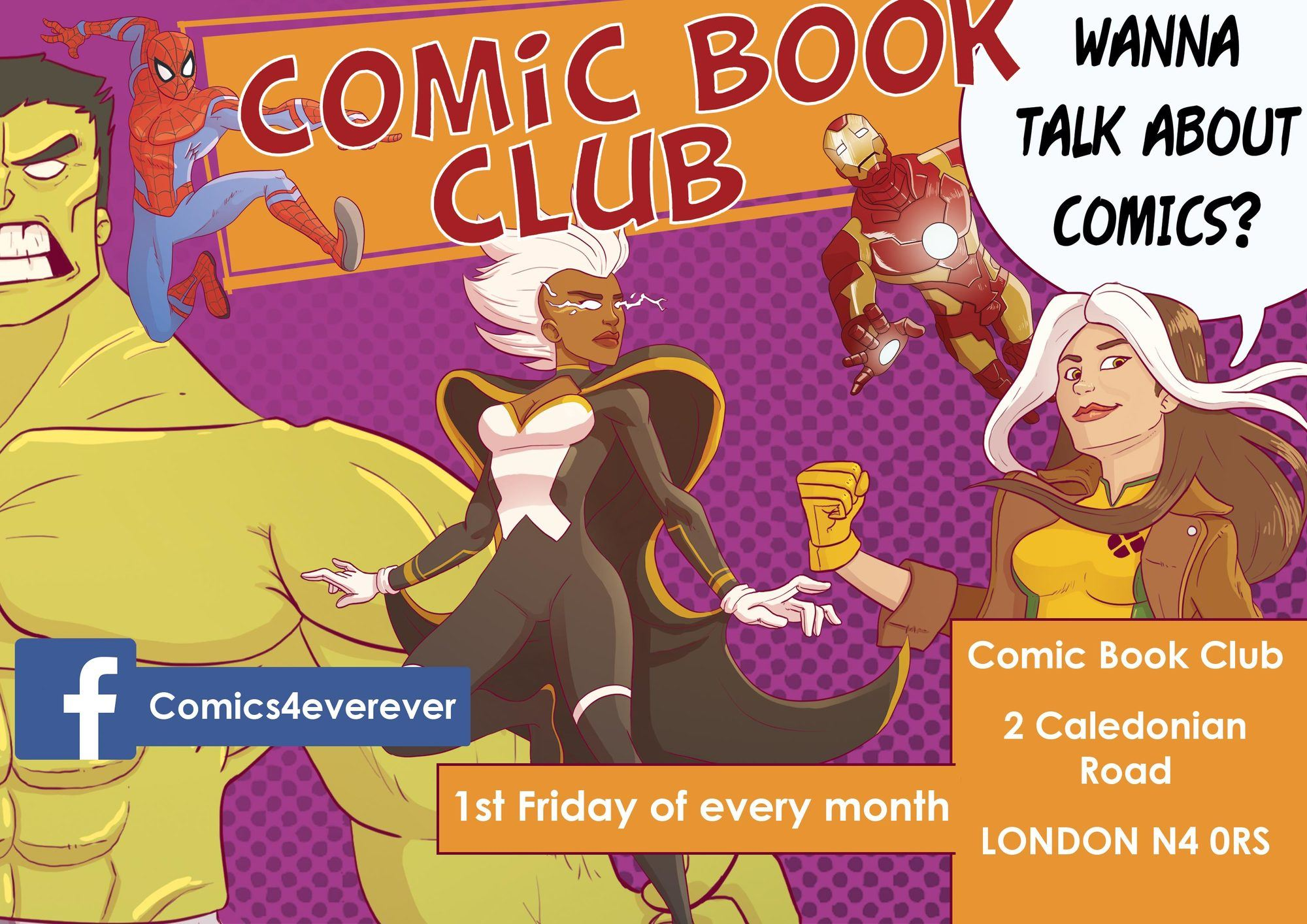 Poster for a Southampton comic book club