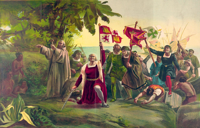 Primer desembarco de Cristóbal Colón en América