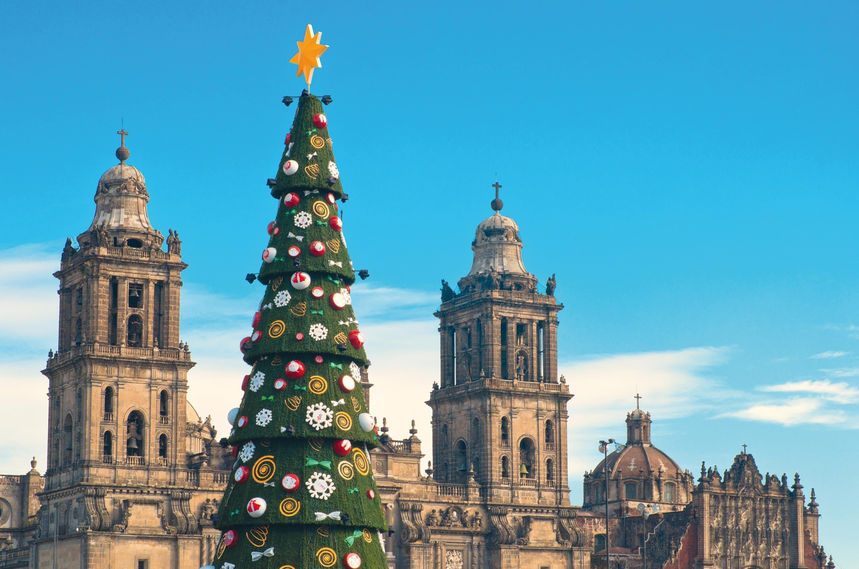 Navidad Coloca de Zocalo en México
