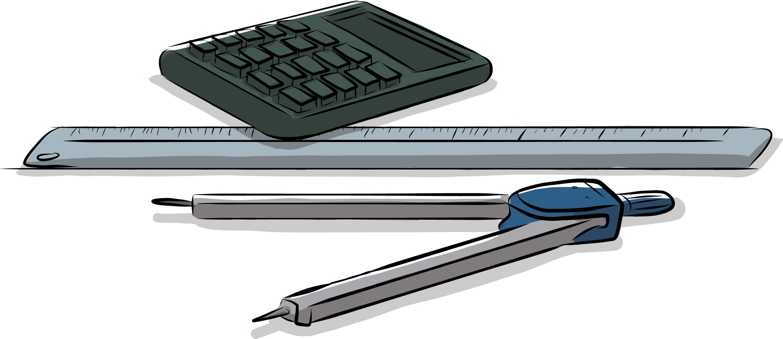 Calculadora, regla y compás