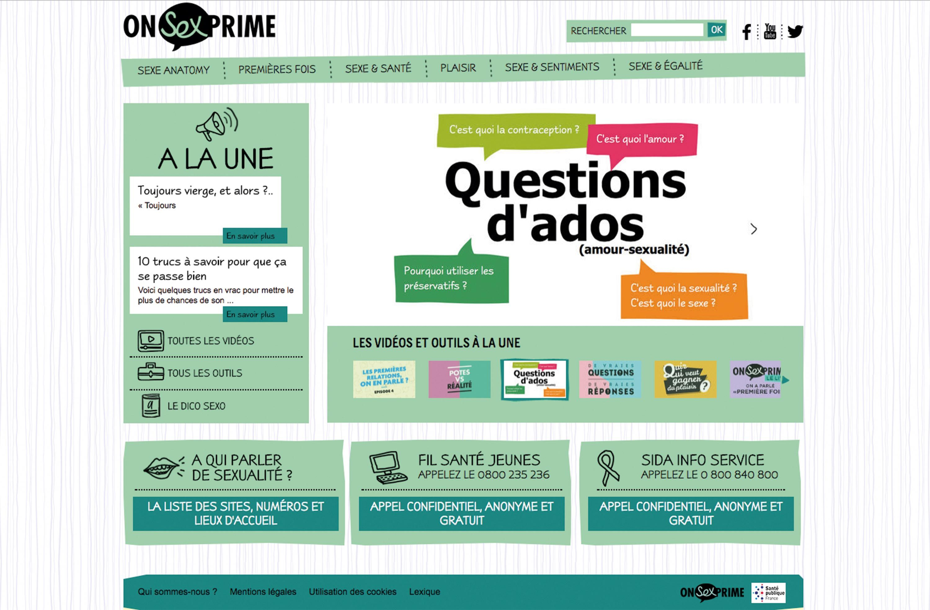 <stamp theme='svt-green1'>Doc. 1</stamp> Le site internet onsexprime.fr.