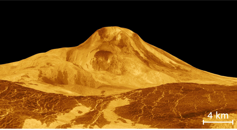 <stamp theme='svt-green1'>Doc. 4</stamp> Une image de la surface de Vénus à partir des données de la sonde spatiale Magellan.