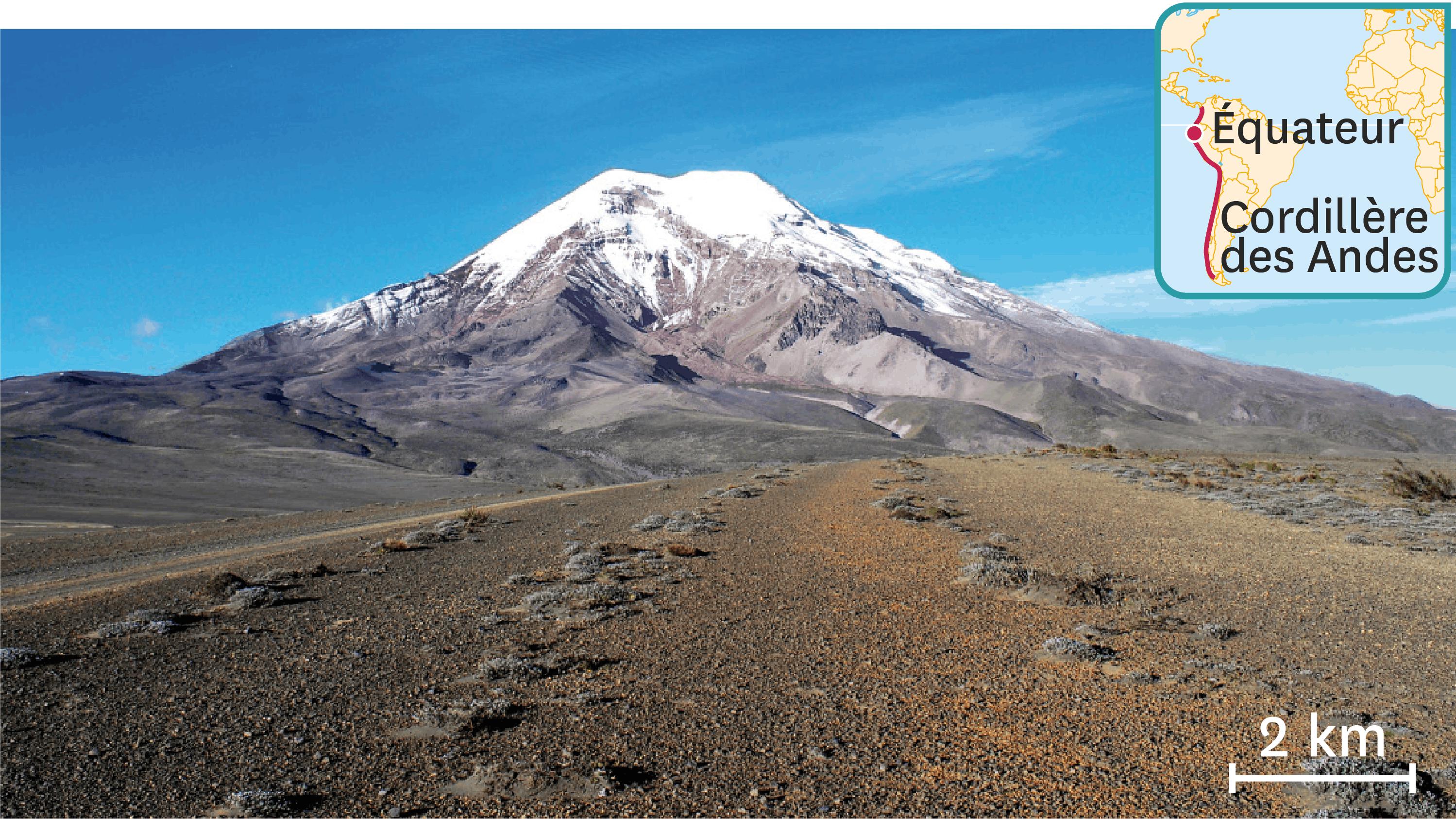 <stamp theme='svt-green1'>Doc. 5</stamp> Une photographie de la surface de la Terre dans la cordillère des Andes (Équateur).