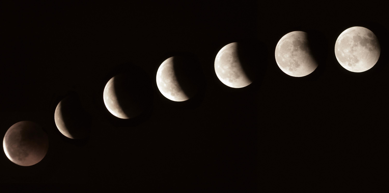 <stamp theme='svt-green1'>Doc. 4</stamp> Une observation de la Lune au cours d'une éclipse lunaire.