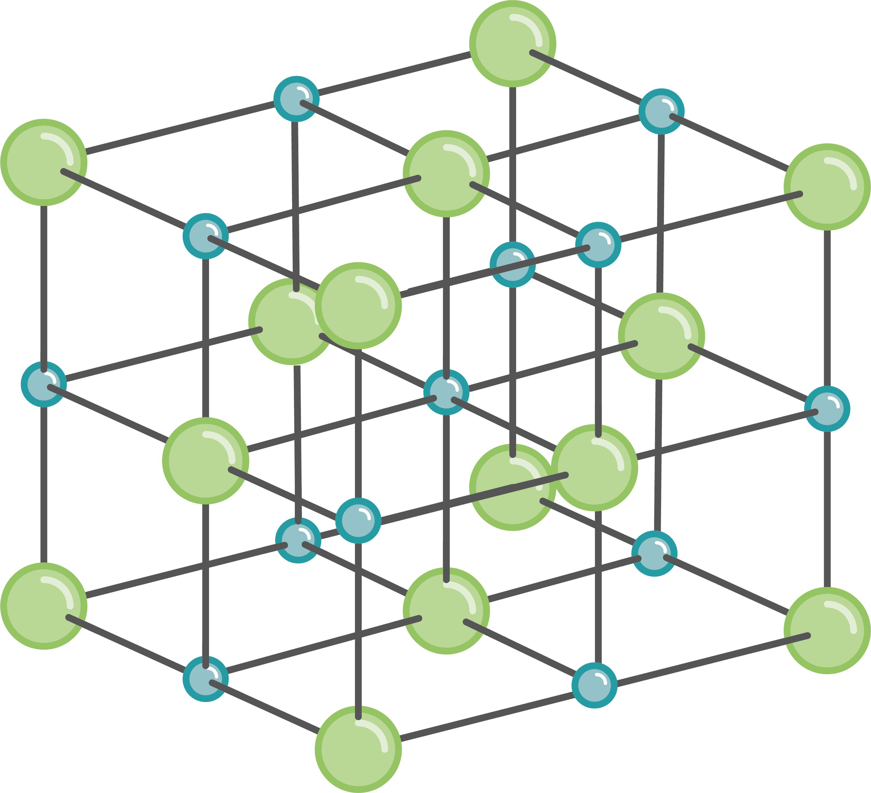 Le chlorure de sodium, un solide ionique.