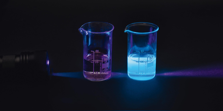 Détecter des ultraviolets : expérience n° 2.