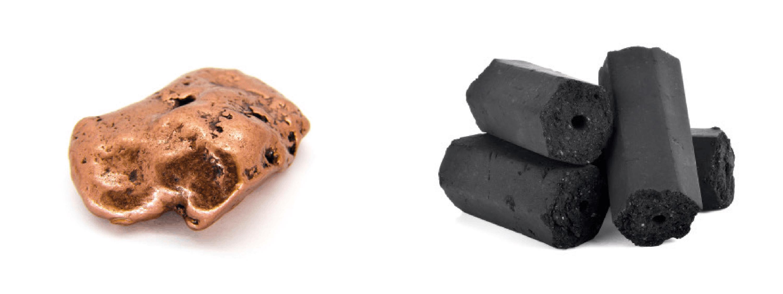 Du cuivre et du graphite.