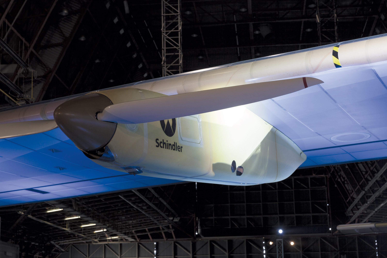 <stamp theme='pc-green1'>Doc. 3</stamp> Un des moteurs à hélice de Solar Impulse 2.