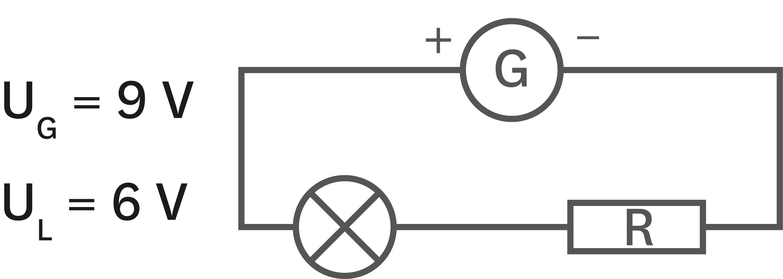 Circuit avec résistor de résistance de 100 Ω.
