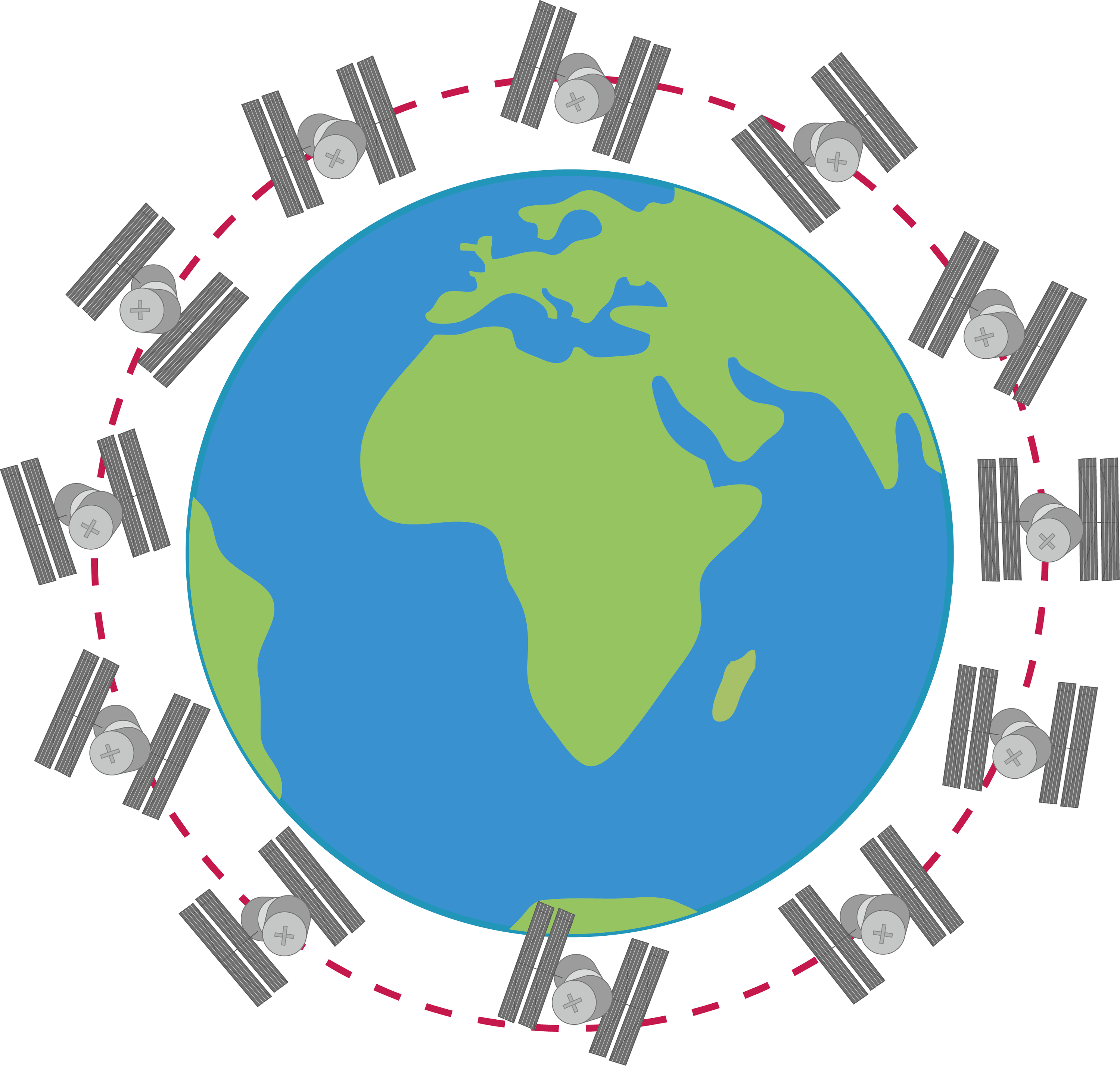 <stamp theme='pc-green1'>Doc. 2</stamp> Trajectoire de la station spatiale internationale.