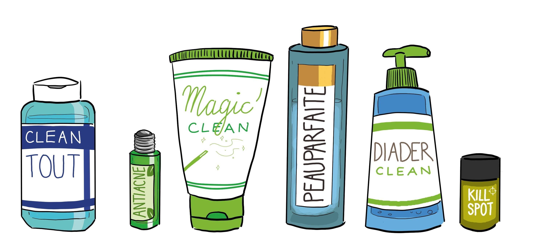 Produits contre l'acné