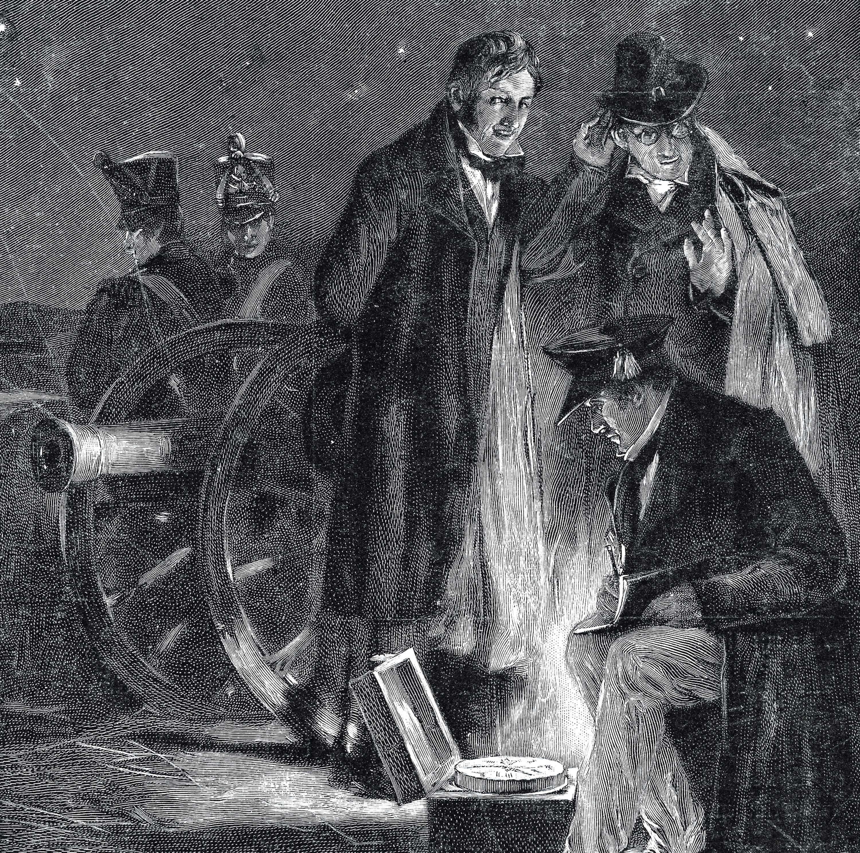 <stamp theme='pc-green1'>Doc. 2</stamp> Expérience de mesure de la vitesse du son en 1822.