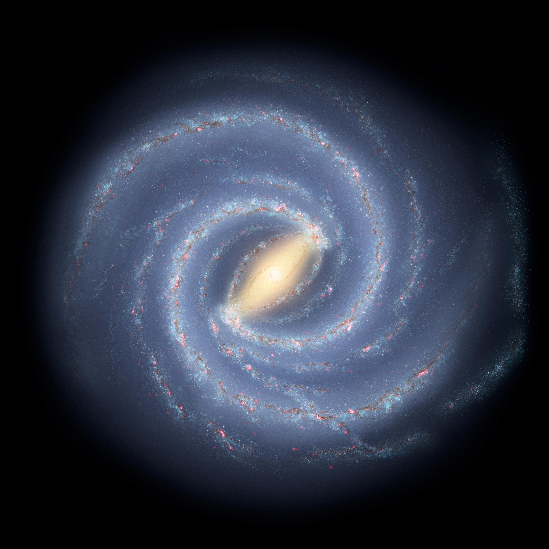 <stamp theme=pc-green1>Doc. 1</stamp> La Voie lactée a un diamètre d'environ 100 000 années-lumière.
