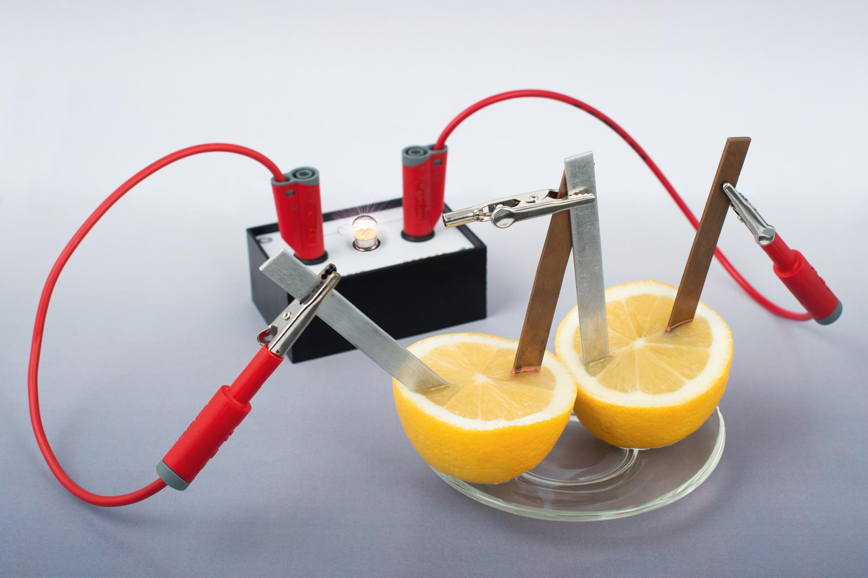 <stamp theme='pc-green1'>Doc. 1</stamp> Deux piles au citron allument une lampe