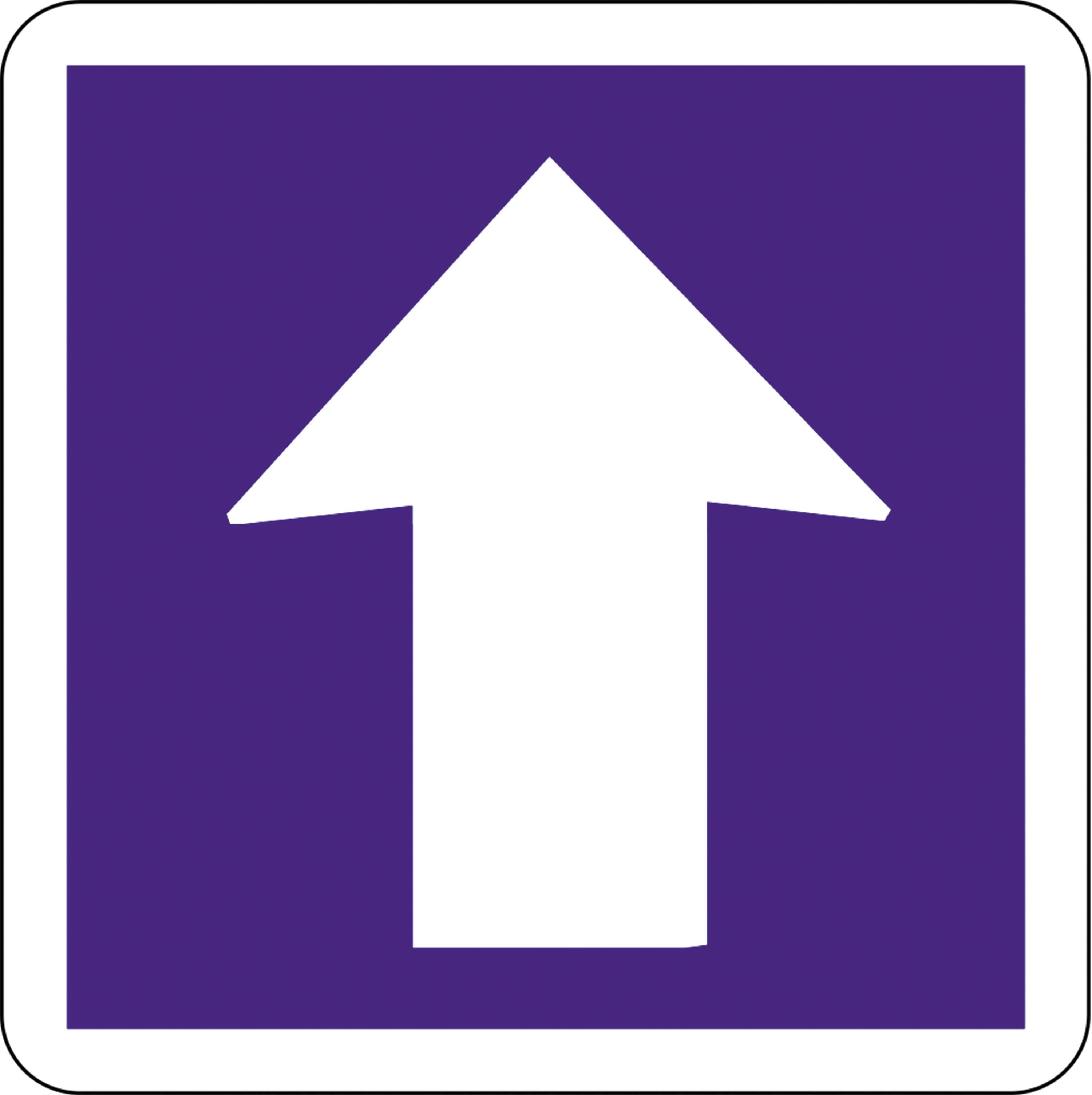 Panneau route sens unique