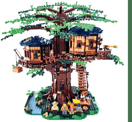 LEGO - Cabane géante dans un arbre