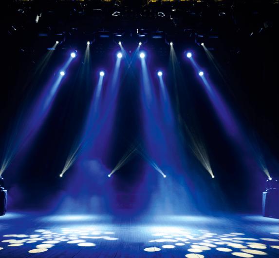 Tests lumière sur scène