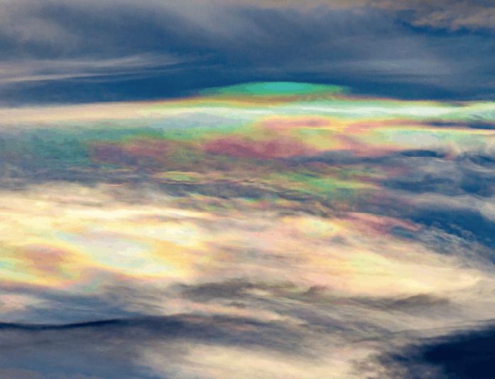 Irisation dans l'atmosphère