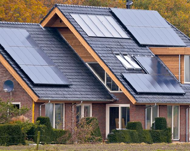 panneaux photovoltaïques sur une maison