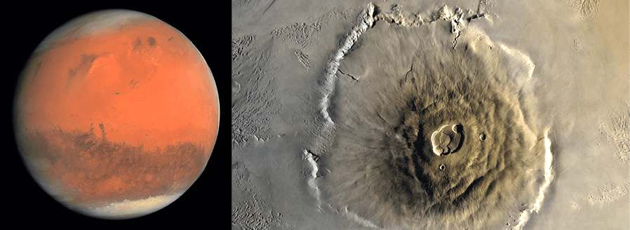 PC - chapitre 19 - Lunette astronomique - exercice 27 - Photographies de Mars et de l'Olympus Mons