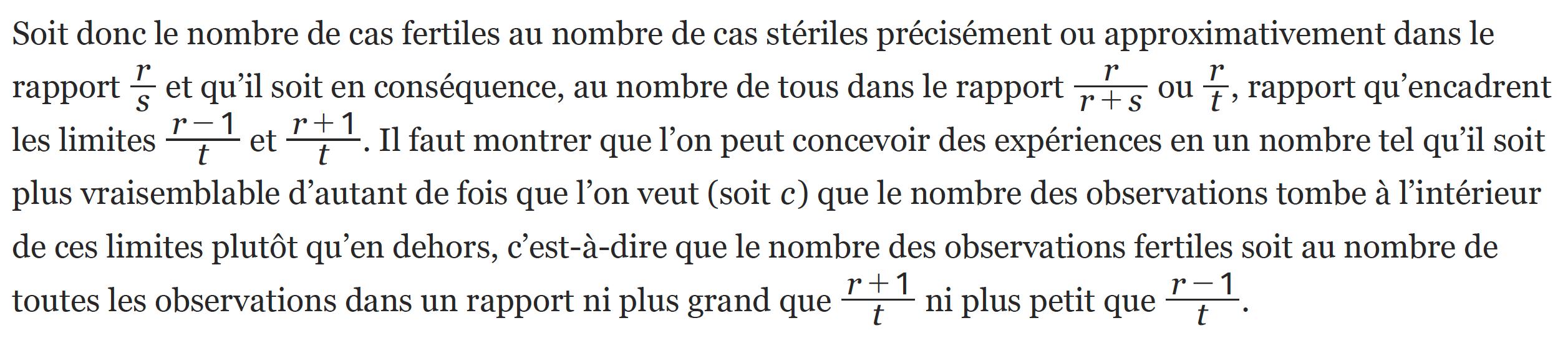 math spécialité - activité - histoire des mathématiques - Deux inégalités pour la loi des grands nombres - Jacques Bernoulli, Ars Conjectandi, 4e partie, traduction du Latin par Norbert Meunier.