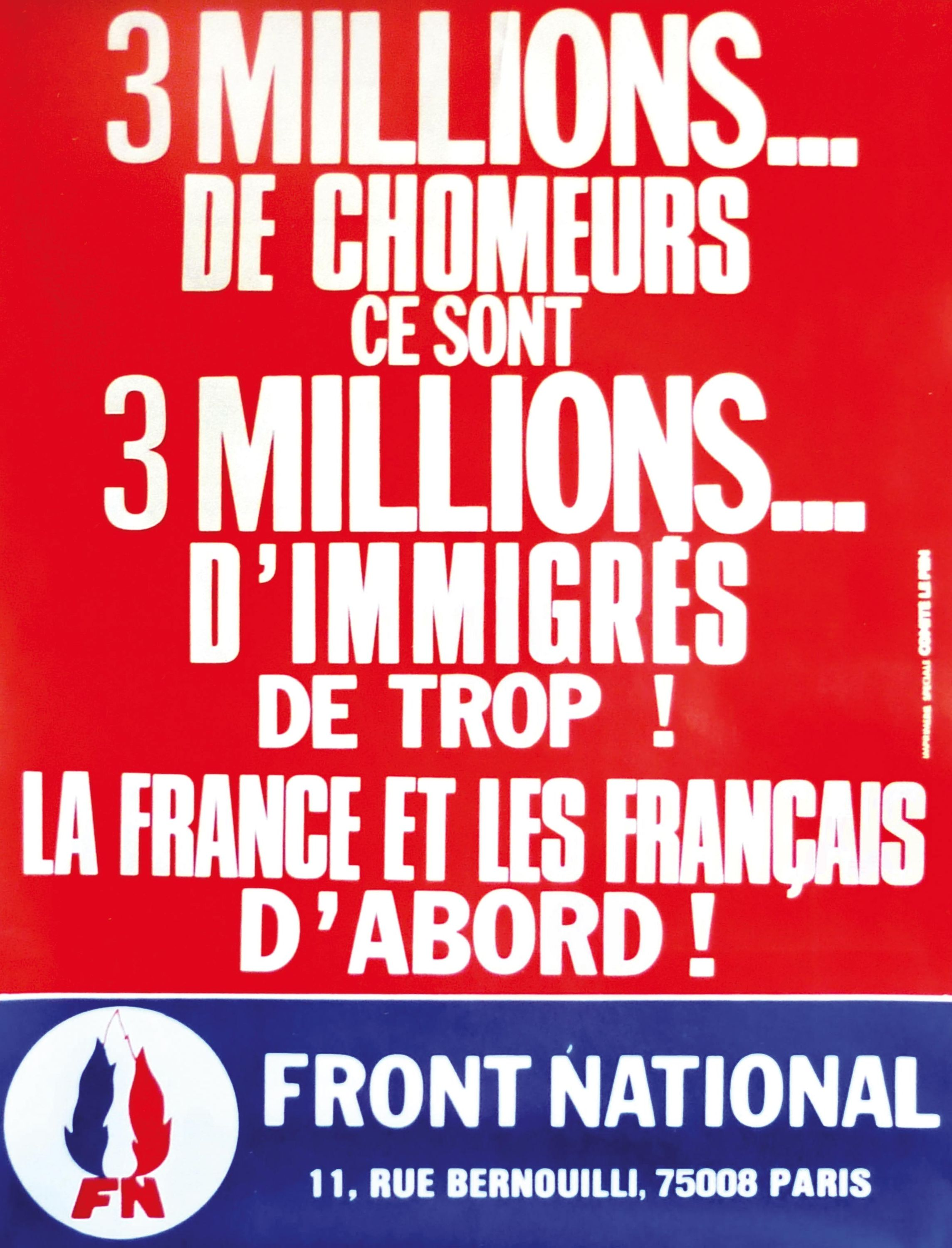 <stamp theme='his-green2'>Doc. 5</stamp> Affiche du Front national.