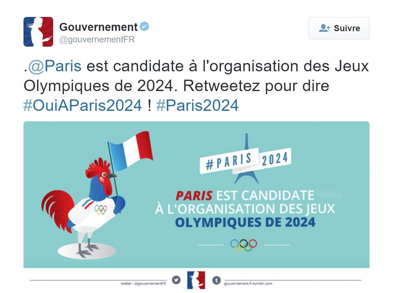 <stamp theme='his-green2'>Doc. 2</stamp> La candidature de Paris aux Jeux olympiques de 2024