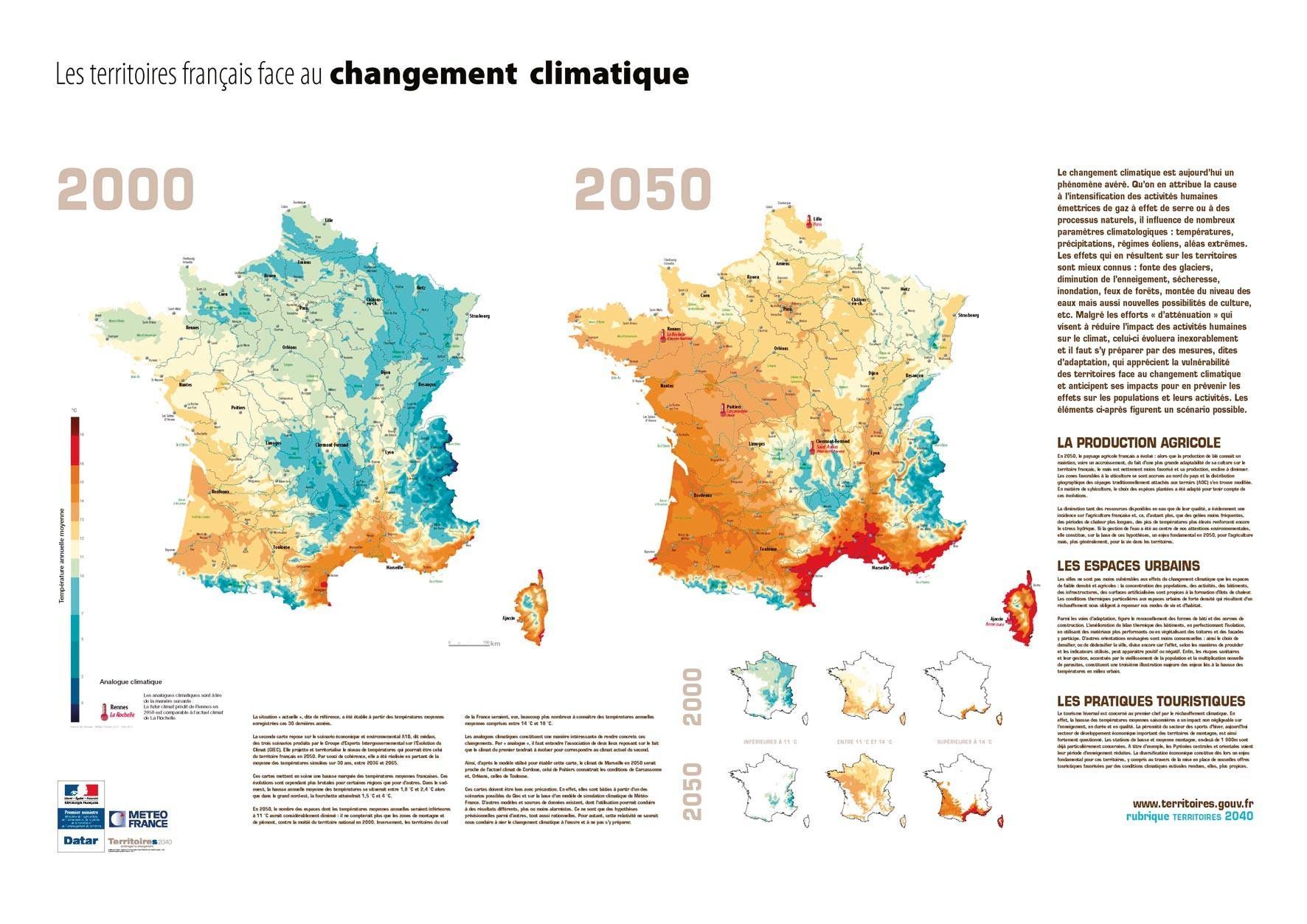 <stamp theme='his-green2'>Doc. 1</stamp> Le territoire français face au changement climatique