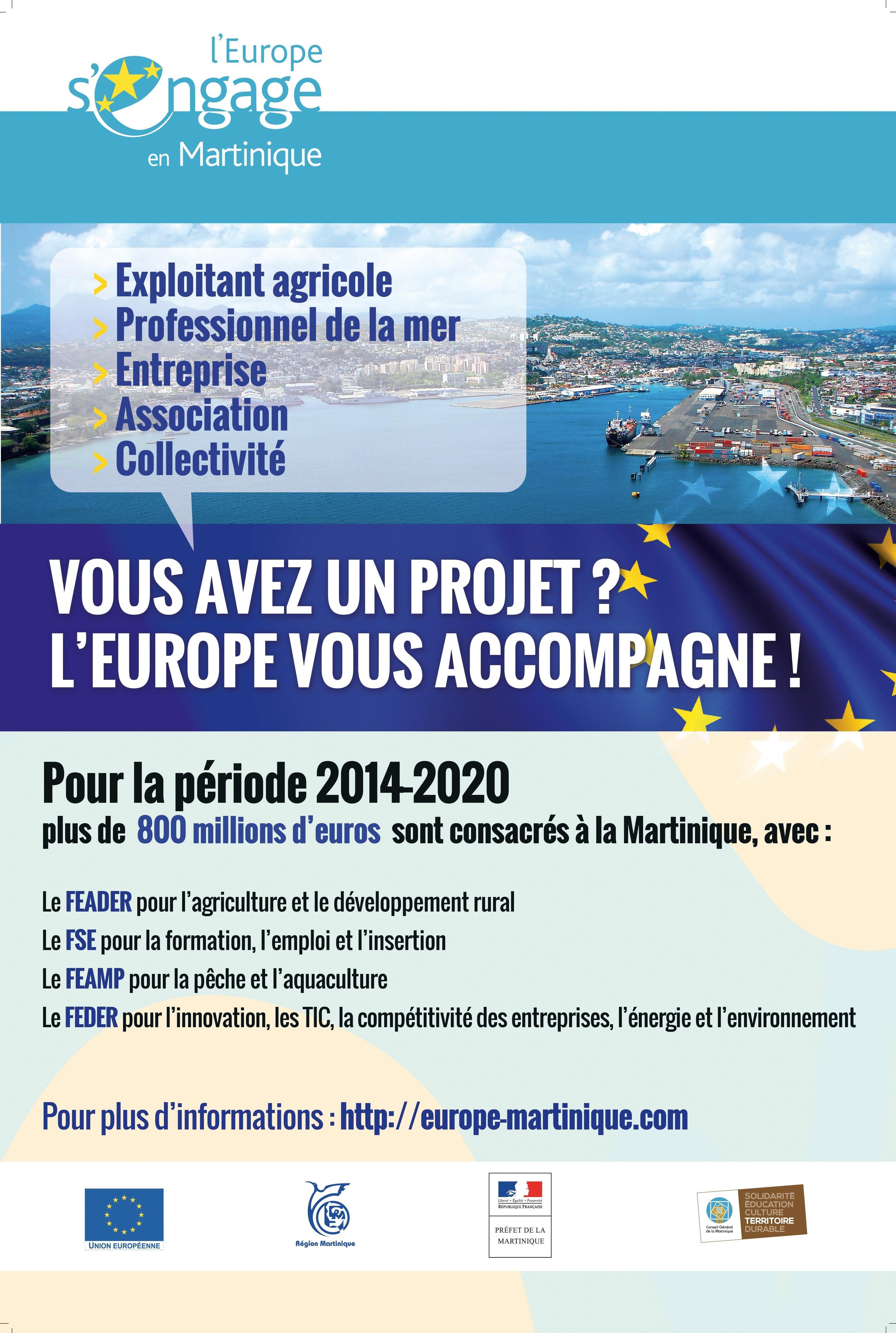 <stamp theme='his-green2'>Doc. 1</stamp> Les actions de l'UE en Martinique pour la période 2014-2020