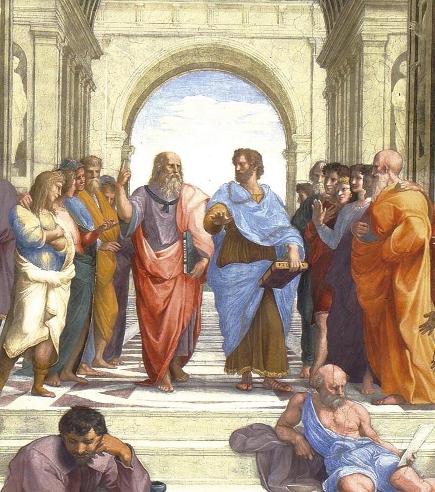 <stamp theme='his-green2'>Doc. 3</stamp> Platon et Aristote