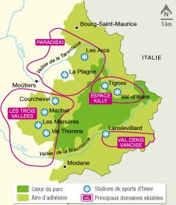 <stamp theme='his-green2'>Doc. 6</stamp> Le parc national de la Vanoise et les stations de sports d'hiver
