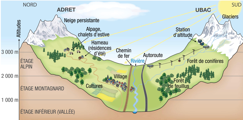 <stamp theme='his-green2'>Doc. 1</stamp> L'organisation des vallées de montagne