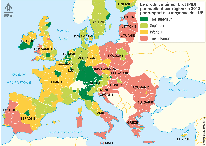 <stamp theme='his-green2'>Doc. 4</stamp> Les 28 États membres: différents niveaux de richesse