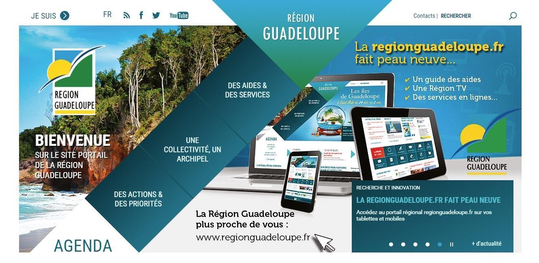 <stamp theme='his-green2'>Doc. 2</stamp> Site internet du conseil régional de Guadeloupe